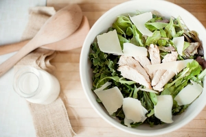 Chicken Caesar Salad with Grilled Croutons Photo