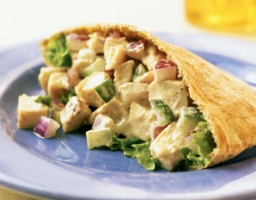 Indian Chicken Salad Pockets Photo