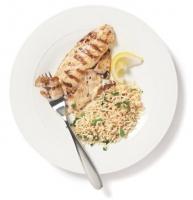Lemon Oregano Grilled Tilapia with Parsley Rice Photo