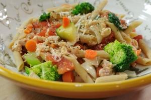 Macaroni with Tomatoes & Broccoli Photo
