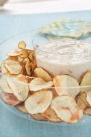 Microwave Baked Potato Chips Photo