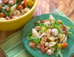 Pasta Salad with Chickpeas and Arugula Photo