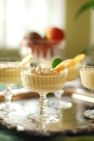 Savory and Sweet Frozen Vanilla Peach Custard Photo