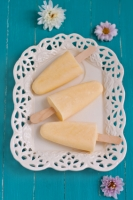 Peach Yogurt Pops Photo