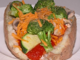 Pizza Baked Potatoes Photo