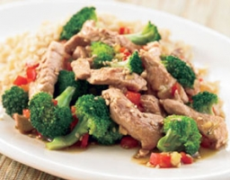 Pork Stir-Fry with Garlic Broccoli Photo