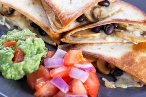 Black Bean Mushroom Quesadillas Photo