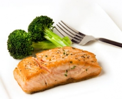 Peppered Salmon Steaks Photo