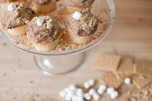 S'mores Cupcakes with Chocolate Cream Cheese Frosting Photo