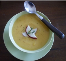 Roasted Butternut Squash and Apple Soup Photo