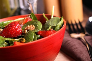 Spinach Salad with Strawberry Vinaigrette  Photo