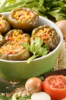 Slow-Cooker Mexican Style Vegetarian Stuffed Peppers Photo