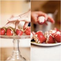 Chocolate Chip Cheesecake Stuffed Strawberries Photo