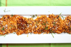 Parmesan Orange Sweet Potato Hash Brown Photo