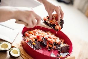 Trashcan Turkey and Black Bean Nachos Photo