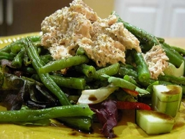 Tuna Salad on Greens Photo