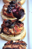 Red, White, and Blueberry Turkey Burger Sliders Photo