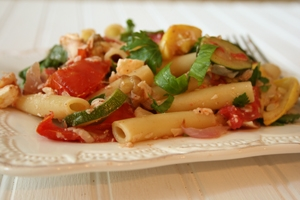 Ziti with Roasted Summer Vegetables Photo