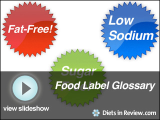 View Food Label Glossary Slideshow