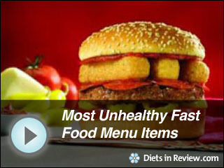 View Most Unhealthy Fast Food Menu Items Slideshow