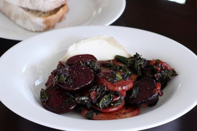 Beet greens, cooked, boiled, drained, without salt