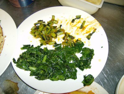Turnip greens, frozen, cooked, boiled, drained, without salt