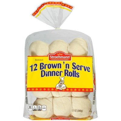 Rolls, Enriched, Brown'n Serve