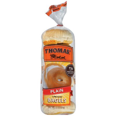 Toaster size Plain Bagels