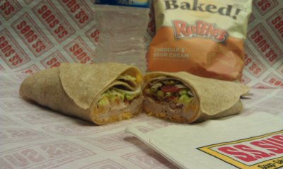 Peppered Turkey And Bacon Wrap With Wisconsin Cheddar & Mayonnaise