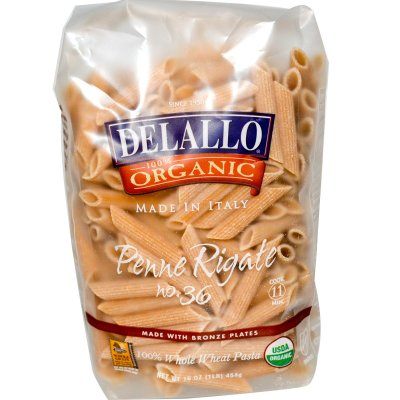 100% Whole Wheat Penne Pasta