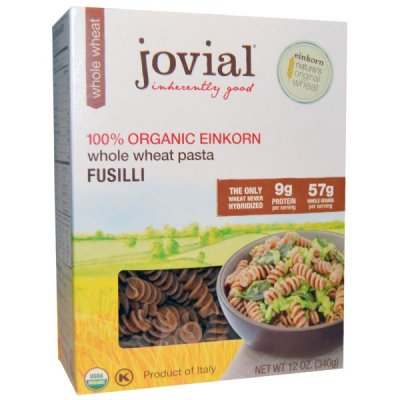 100% Organic Einkorn Whole Wheat Pasta