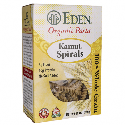 Kamut Vegetable Spirals, Organic, 100% Whole Grain