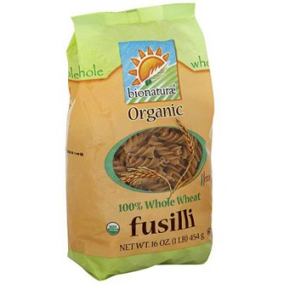 Whole Wheat Fusilli Organic Pasta