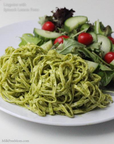 Linguine with Spinach