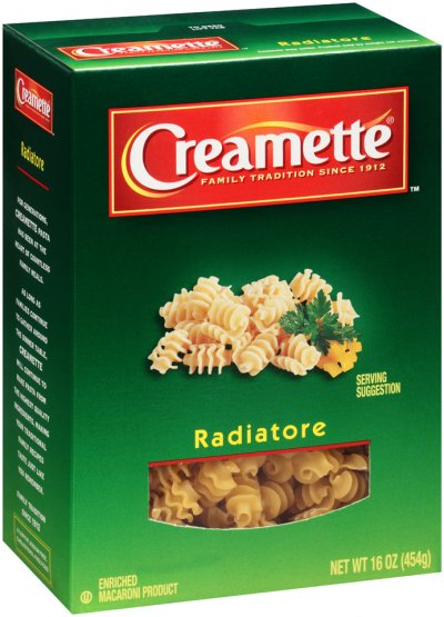 Radiatore, Enriched Macaroni Product