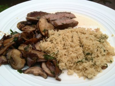 Organic Wild Mushroom And Herb Couscous