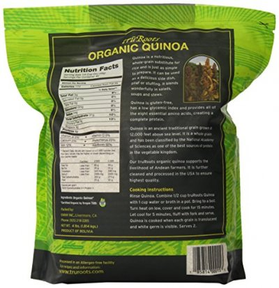 Live Quinoa White, 100% Premium Whole Grain