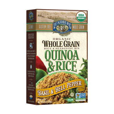 Organic Whole Grain Rice And Seasoning Mix, Quinoa And Rice, Basil And Bell Pepper