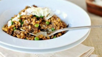 Farrotto, Farro With Porcini Mushrooms