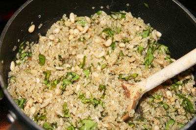 Garlic And Basil Quinoa And Brown Rice Blend