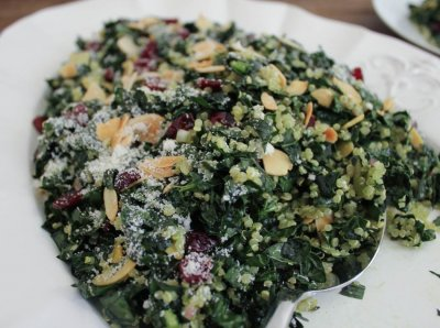 Grains & Quinoa Salad With Cranberries & Almonds