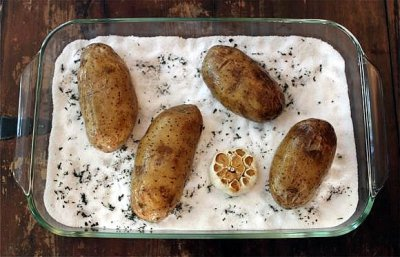 Baked Potato with Salt