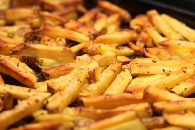 French Fries, Frozen, Oven-Heated with Salt