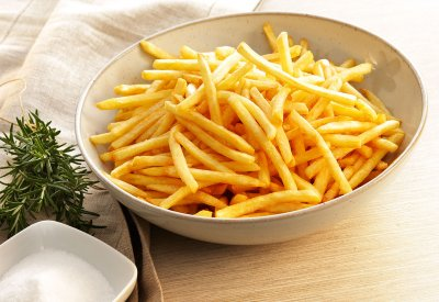 French Fries, Frozen, Prepared, with Salt