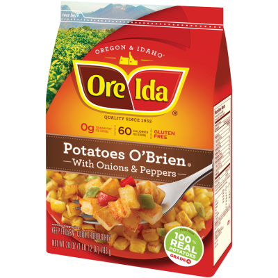 Potatoes, Diced, with Onions & Peppers, Potatoes O'Brien
