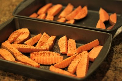 Sea Salt and Pepper Crinkle Cut Sweet Potato Fries