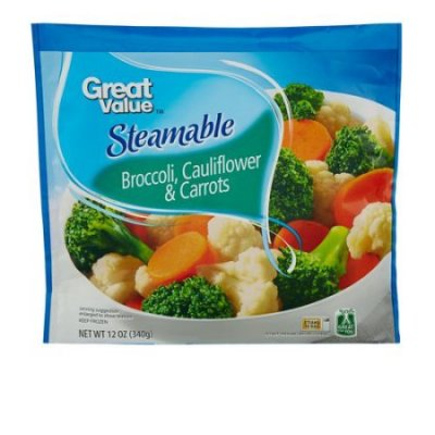Broccoli & Cauliflower, Steamable in Bag