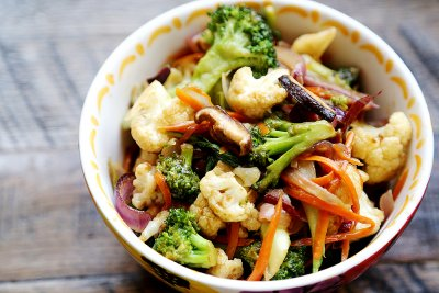 Broccoli Florets, Cauliflower & Carrots