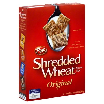 Cereal, Shredded Wheat, Spoon Size
