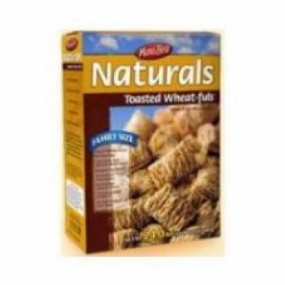 Cereal,Family Size Naturals Toasted Wheat-Fuls